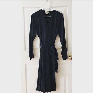 Vintage 80s Silk Wrap Dress